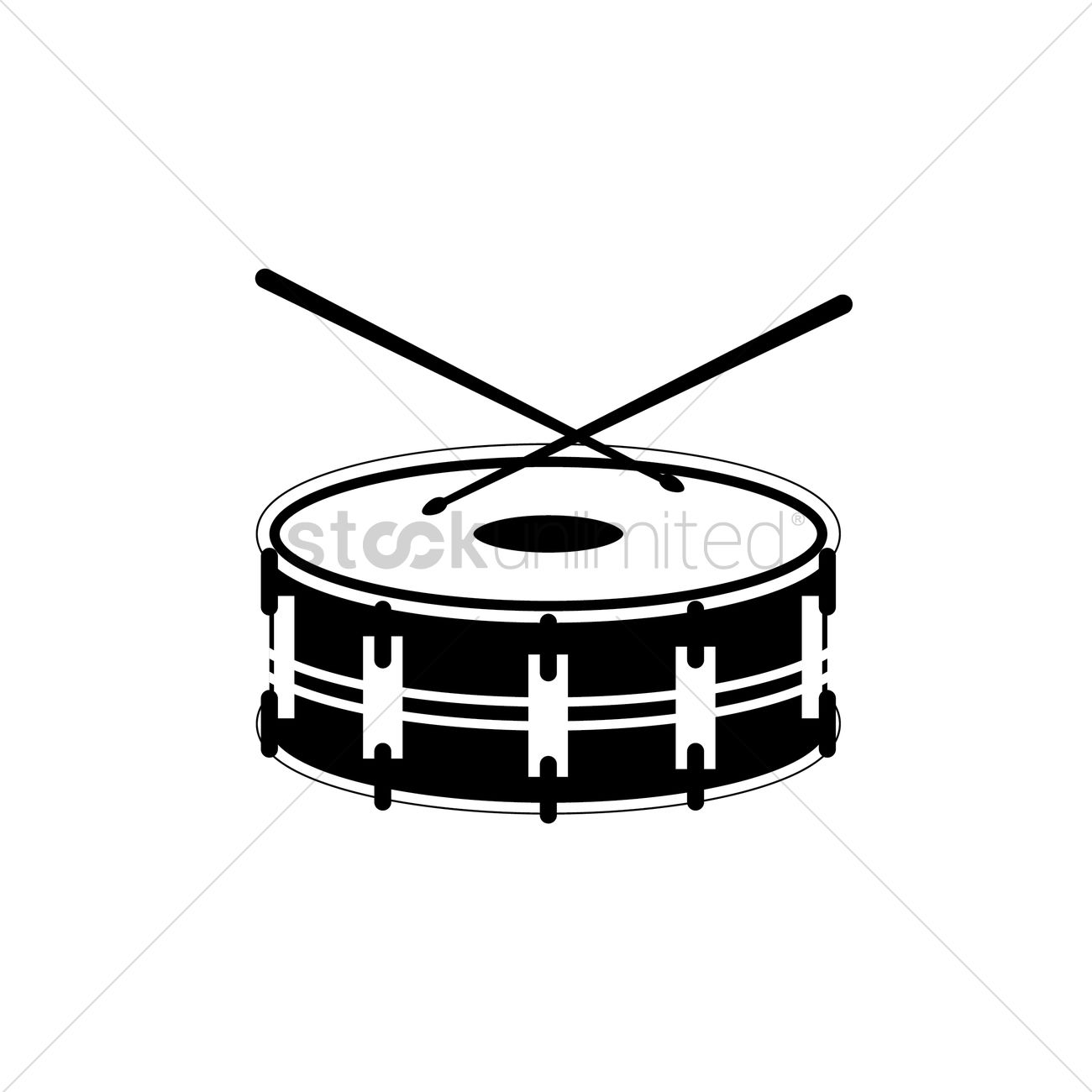 Free Silhouette Of Bass Drum Vector Image
