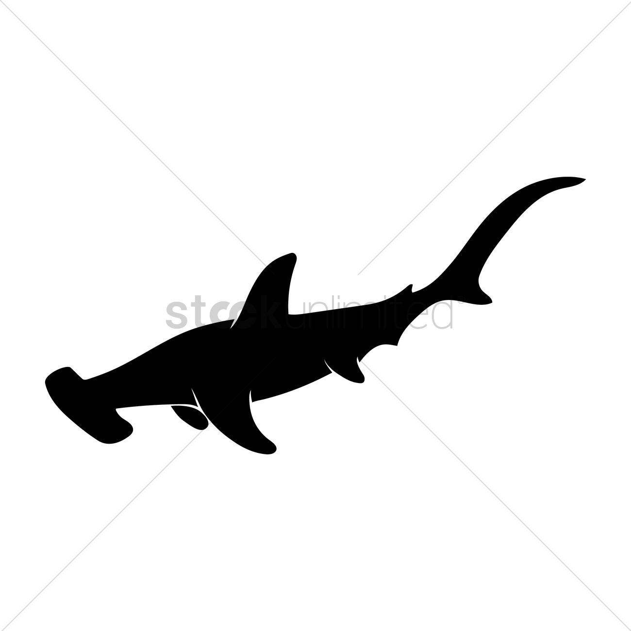 Silhouette Of Hammerhead Shark Vector Image