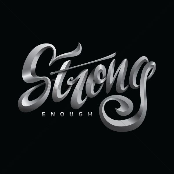 Strong Typography Design Vector - 1957825 Stockunlimited