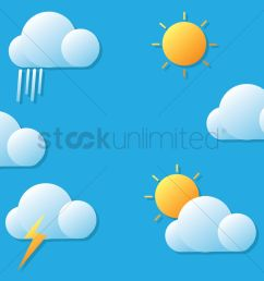 weather forecast vector graphic stock clipart [ 1300 x 919 Pixel ]