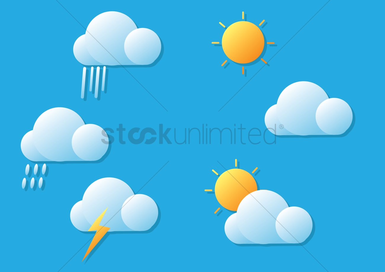 hight resolution of weather forecast vector graphic stock clipart