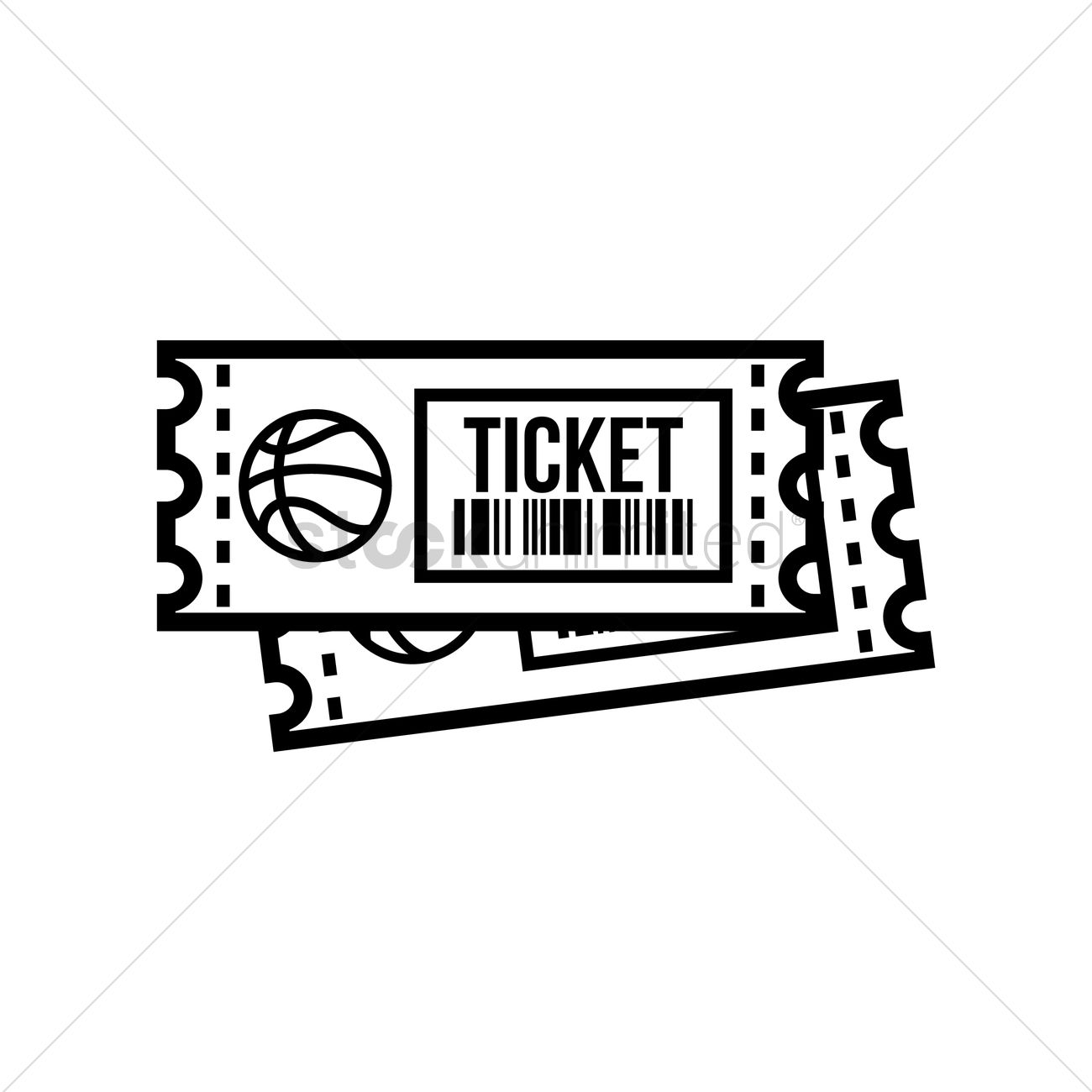 Basketball Ticket Vector Image