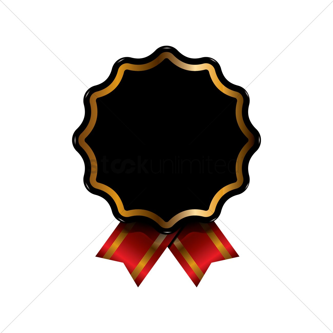 black and gold badge