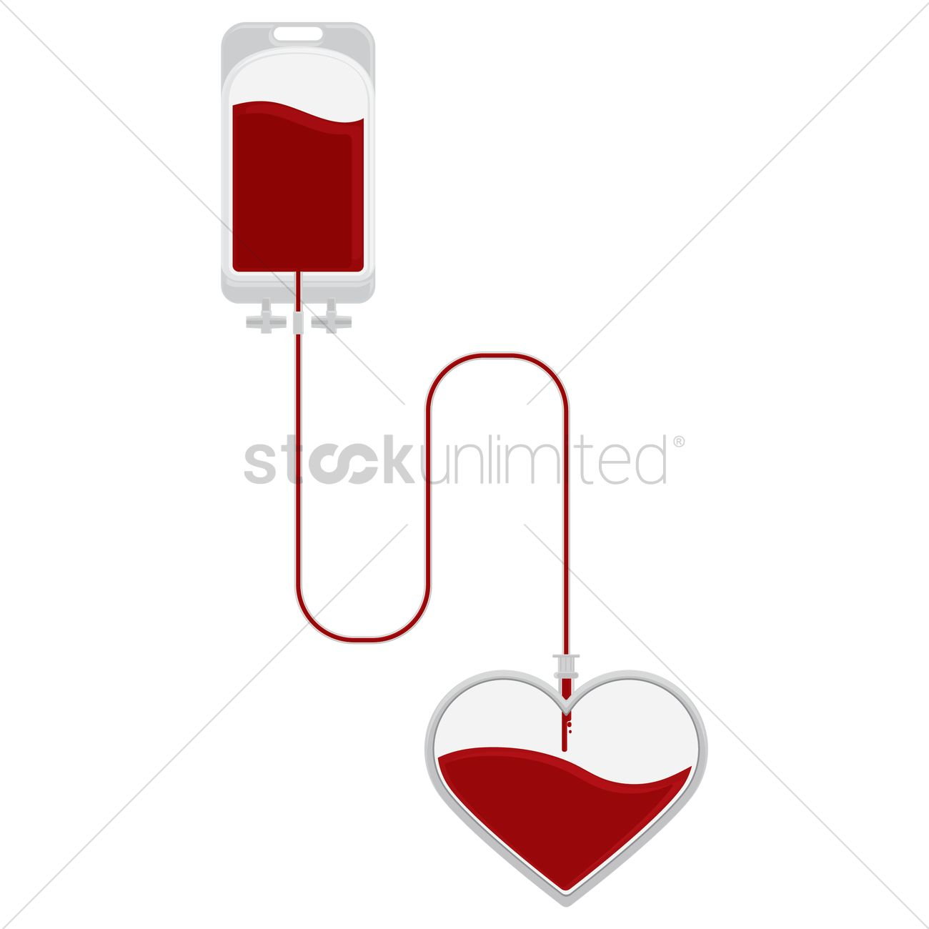 hight resolution of blood donation vector graphic