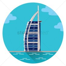 Burj Al Arab Hotel Vector - 1309230 Stockunlimited