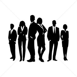 Business people silhouette Vector Image 1971462 StockUnlimited