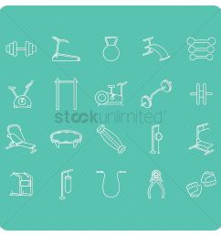 collection of gym equipment vector graphic [ 1300 x 1300 Pixel ]