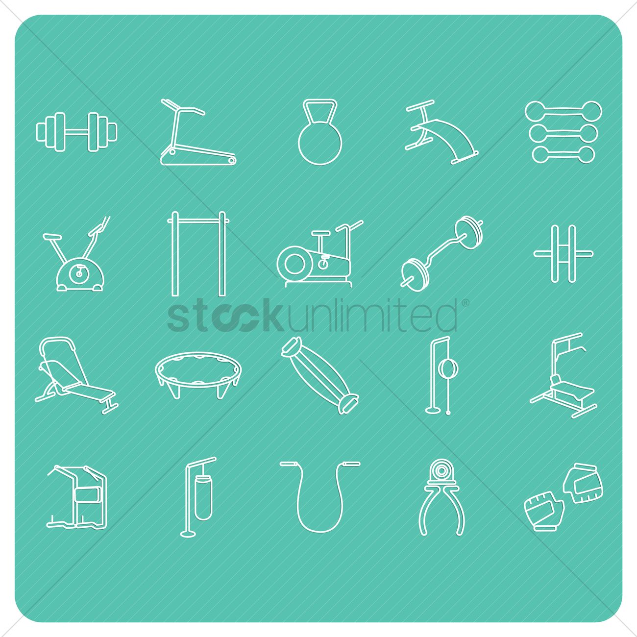 hight resolution of collection of gym equipment vector graphic
