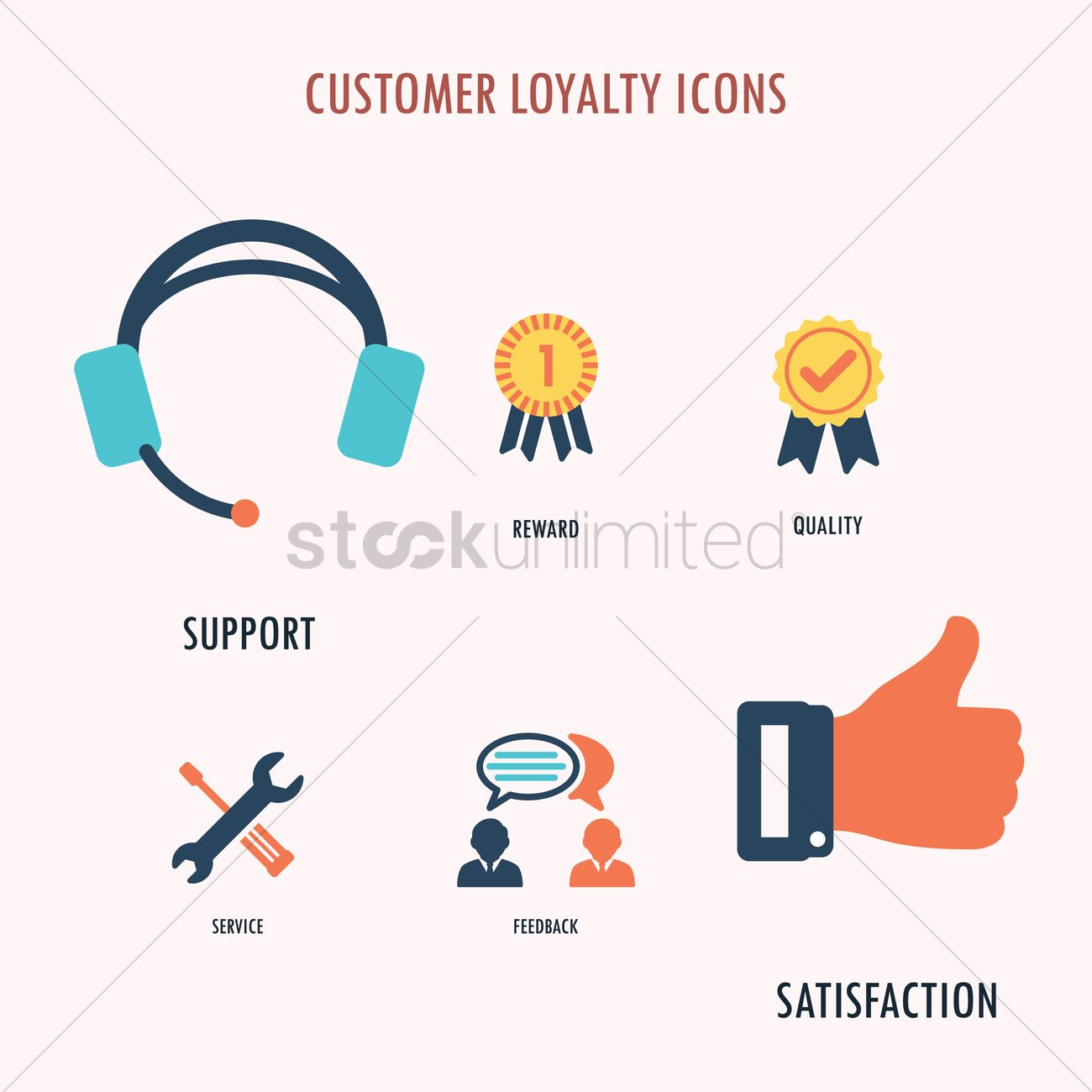 Customer loyalty icons Vector Image - 1962046 | StockUnlimited