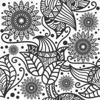 Decorative flower wallpaper Vector Image - 1571510 ...