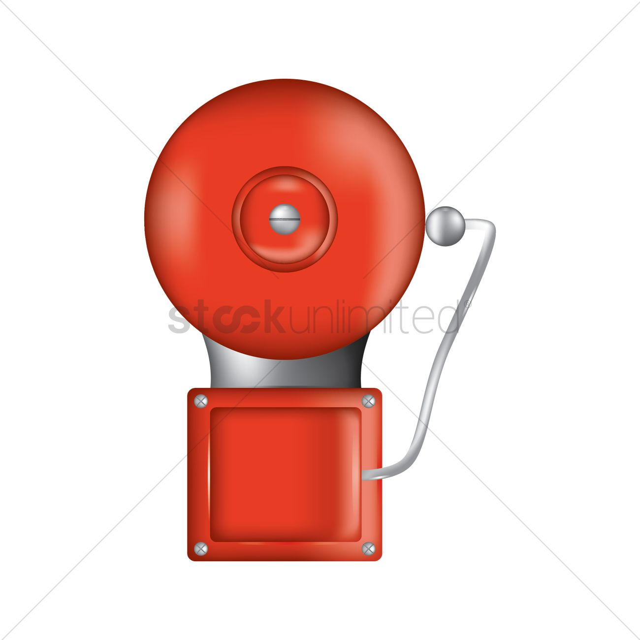 hight resolution of fire alarm vector graphic