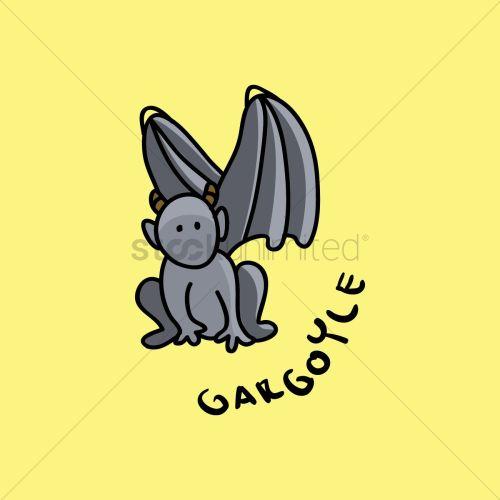 small resolution of gargoyle cartoon vector graphic