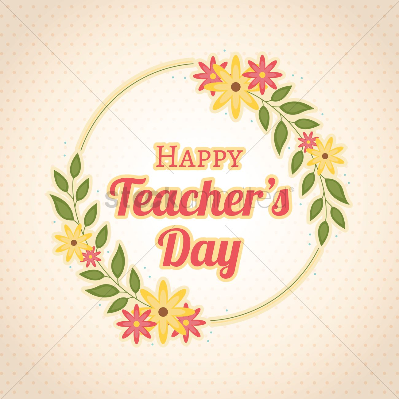 Happy Teacher S Day Design Vector Image