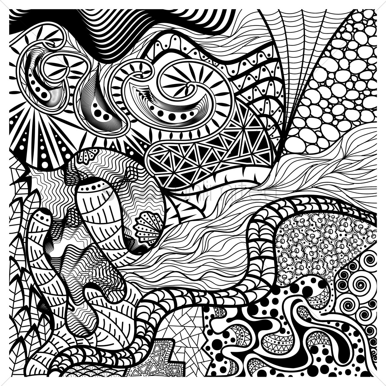Intricate Abstract Design Vector Image