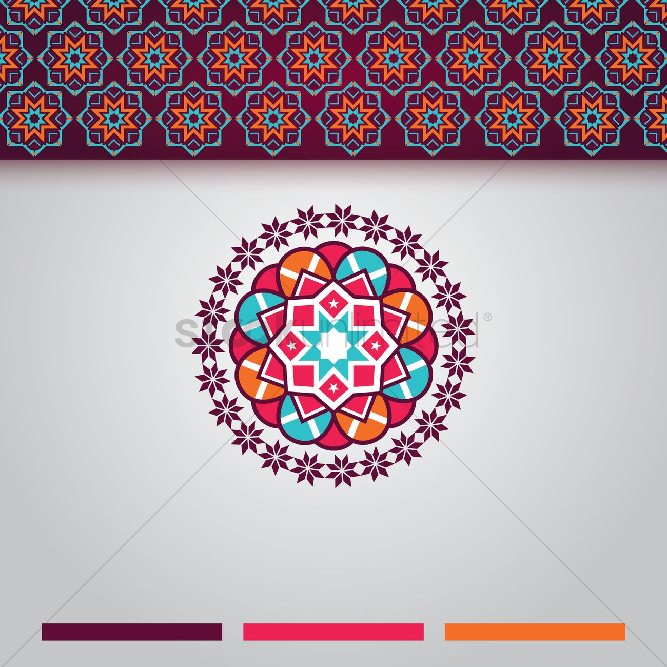 islamic background design vector