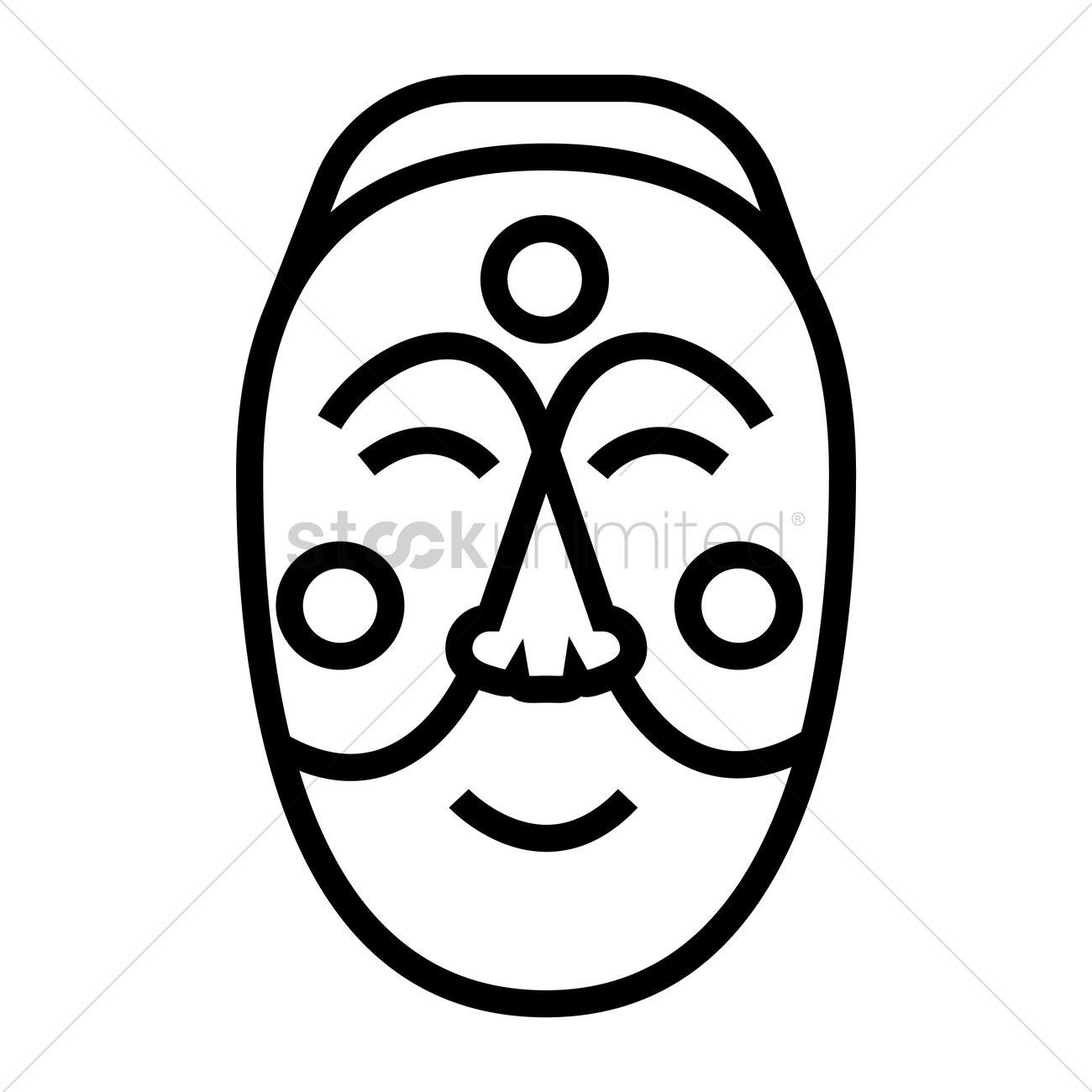 Korean Mask Vector Image