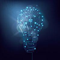 Light bulb design circuit board wallpaper Vector Image ...