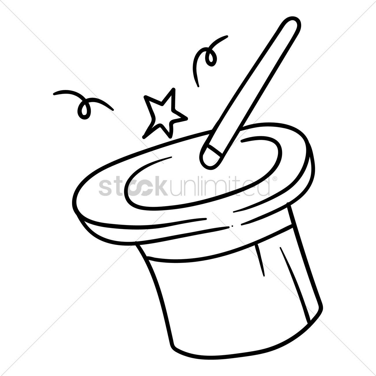 Magic Hat And A Wand Vector Image