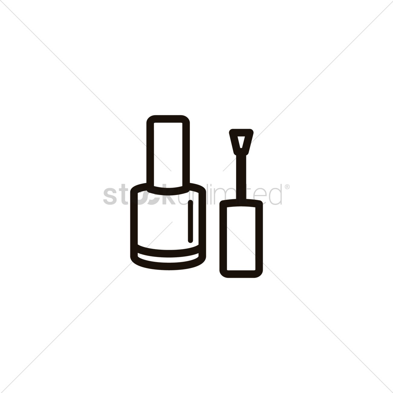 Nail Polish With Brush Vector Image