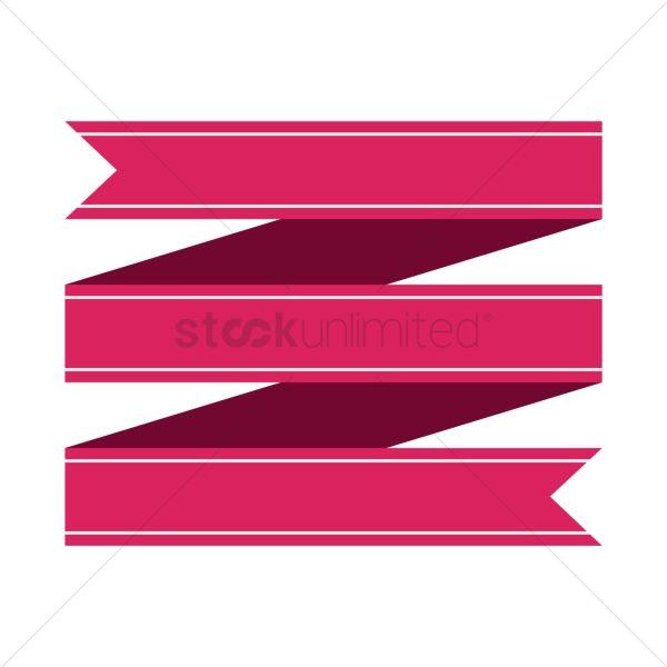 Ribbon Banner Design Vector - 1467046 Stockunlimited