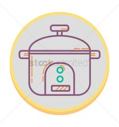 rice cooker vector graphic [ 1300 x 1300 Pixel ]
