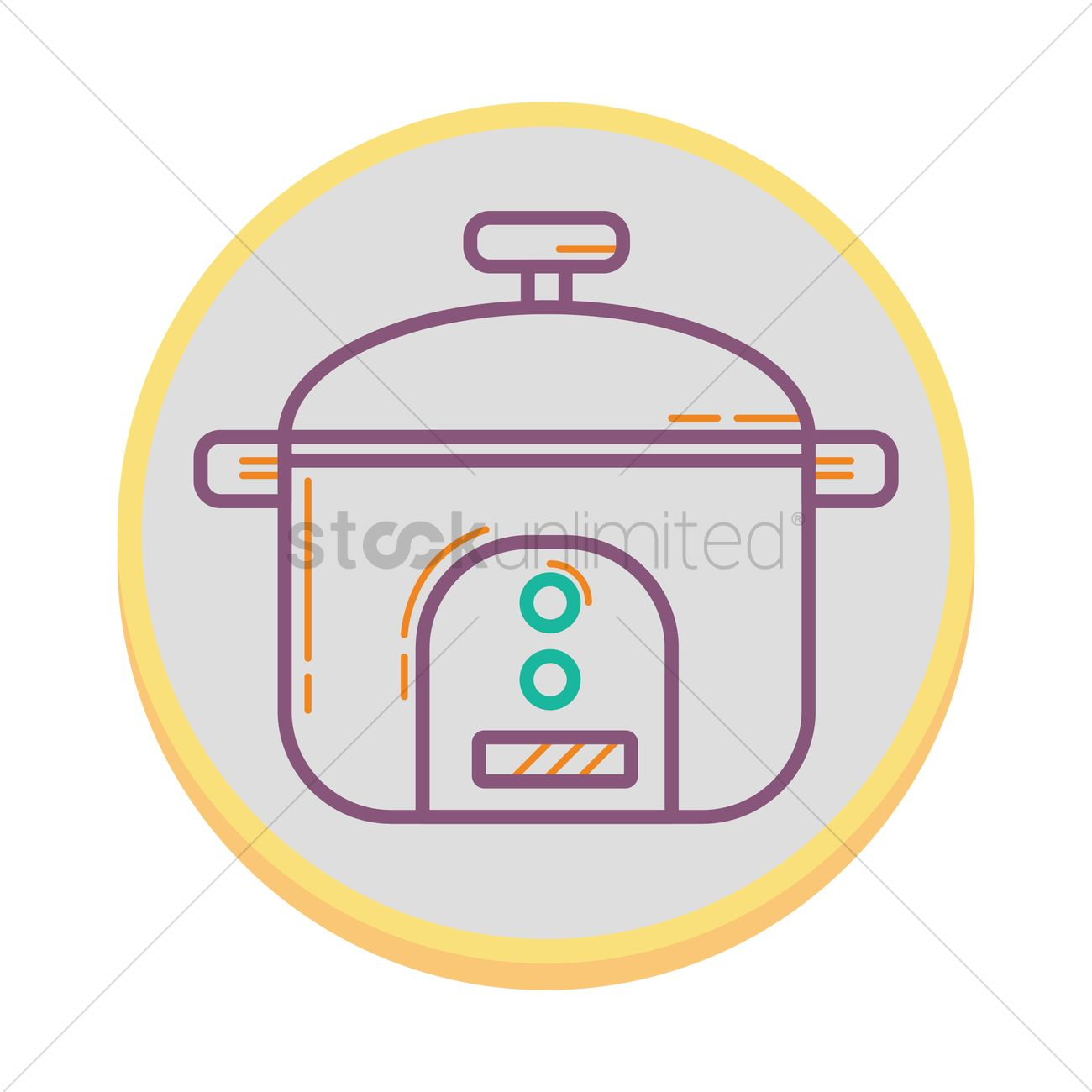 hight resolution of rice cooker vector graphic
