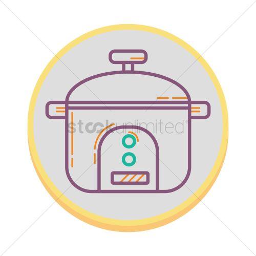 small resolution of rice cooker vector graphic