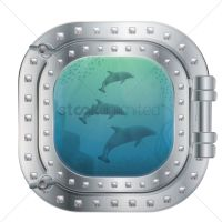 Submarine window Vector Image - 1683522 | StockUnlimited