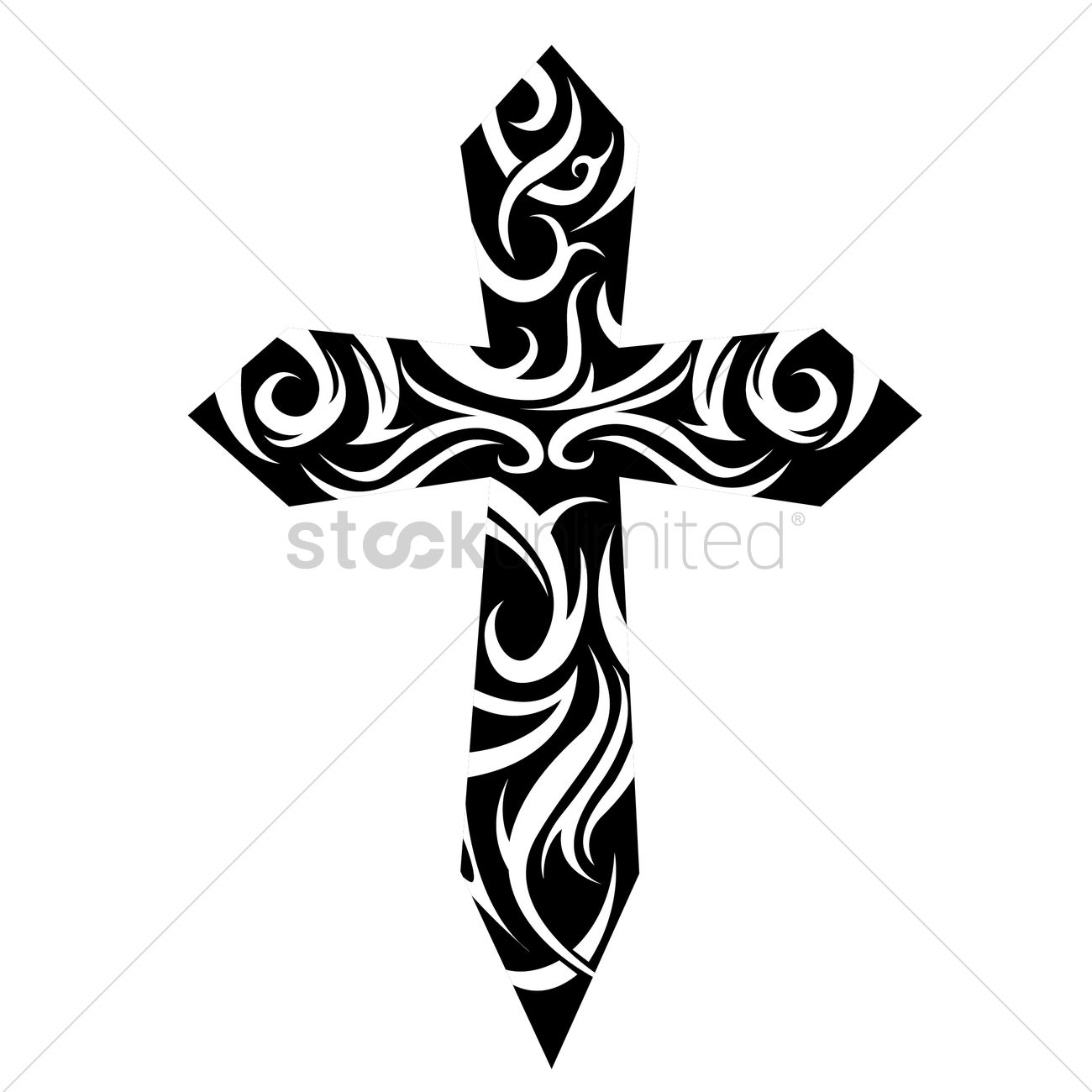 Tribal Cross Tattoo Vector Image  1524206  Stockunlimited