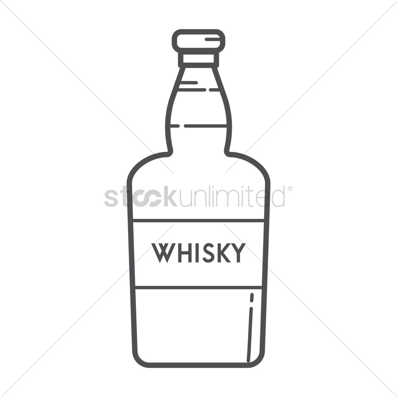 Whisky Bottle Vector Image