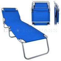 Portable Lawn Chair Folding Reclining Outdoor Chaise ...