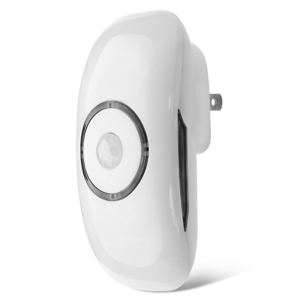 Night Light LED Motion Sensor Outlet Plug In PIR Motion