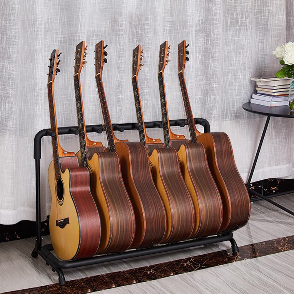 Guitar Stand 7 Holder Folding Stand Rack Band Storage Bass