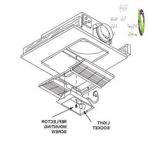 Broan-Nutone 668Rp Ceiling Bathroom Exhaust Fan And Light