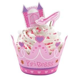 envolturas de cupcake princesa primer cumpleaños