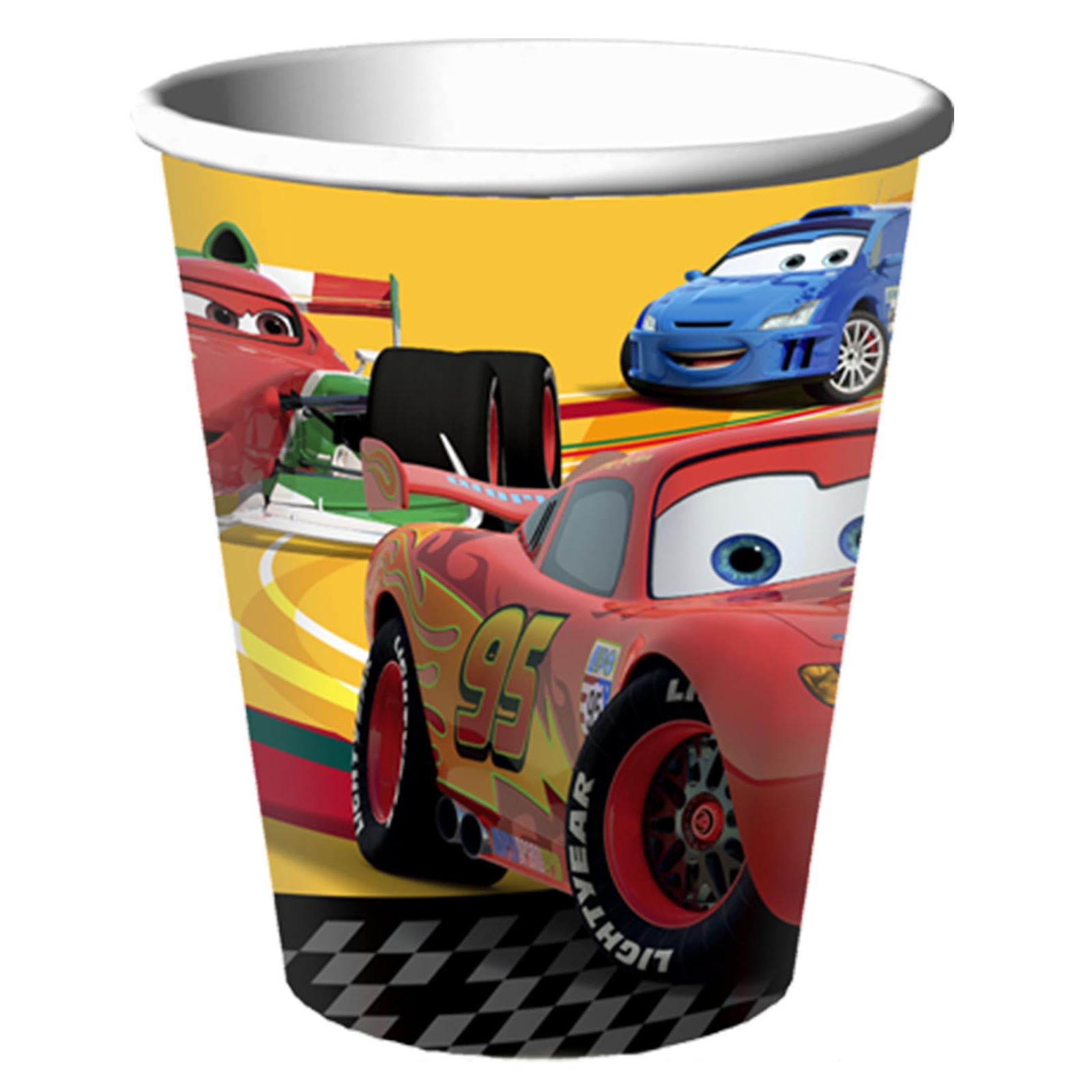 Disney Cars 2 9 Oz Paper Cups 8