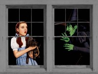 Dorothy and the Witch Halloween Window Posters, 83600