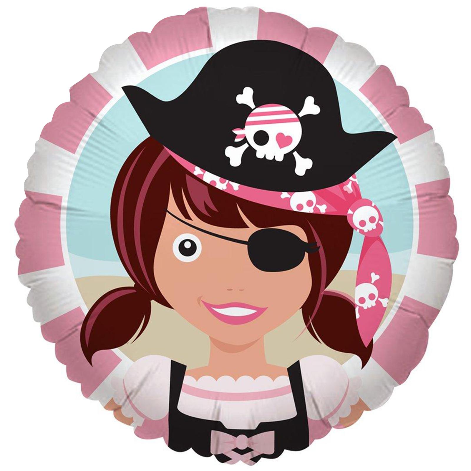 Pretty Pirates Party Foil Balloon
