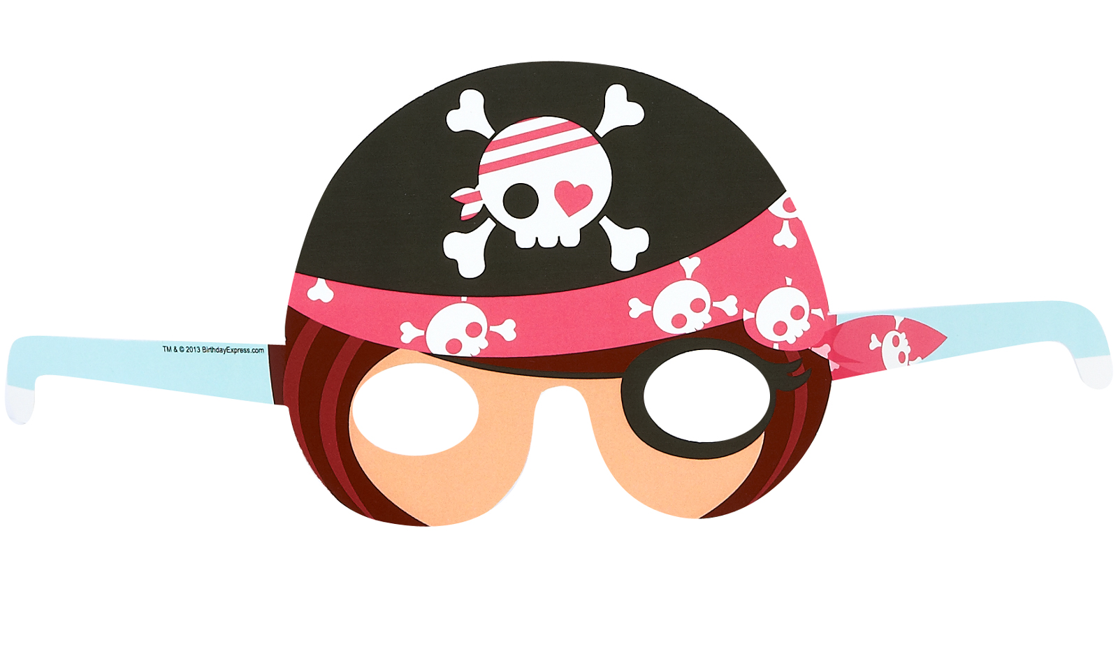 Pretty Pirates Party Paper Masks