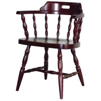"Old Dominion 208 Captain's Chair, Wood Seat, 24-1/4""W"