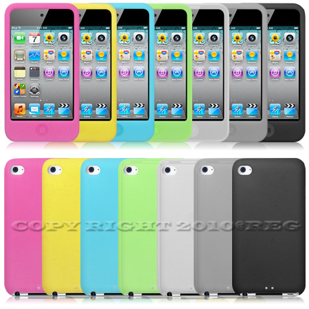 7pcs Silicone Case Cover For Apple iPod Touch 4 4th Generation