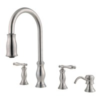 Price Pfister F-531-4TMS Kitchen Faucet Stainless Steel   eBay