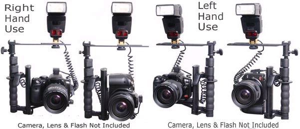 ROTATING FLASH BRACKET GRIP FOR CANON REBEL XT XTi XSi