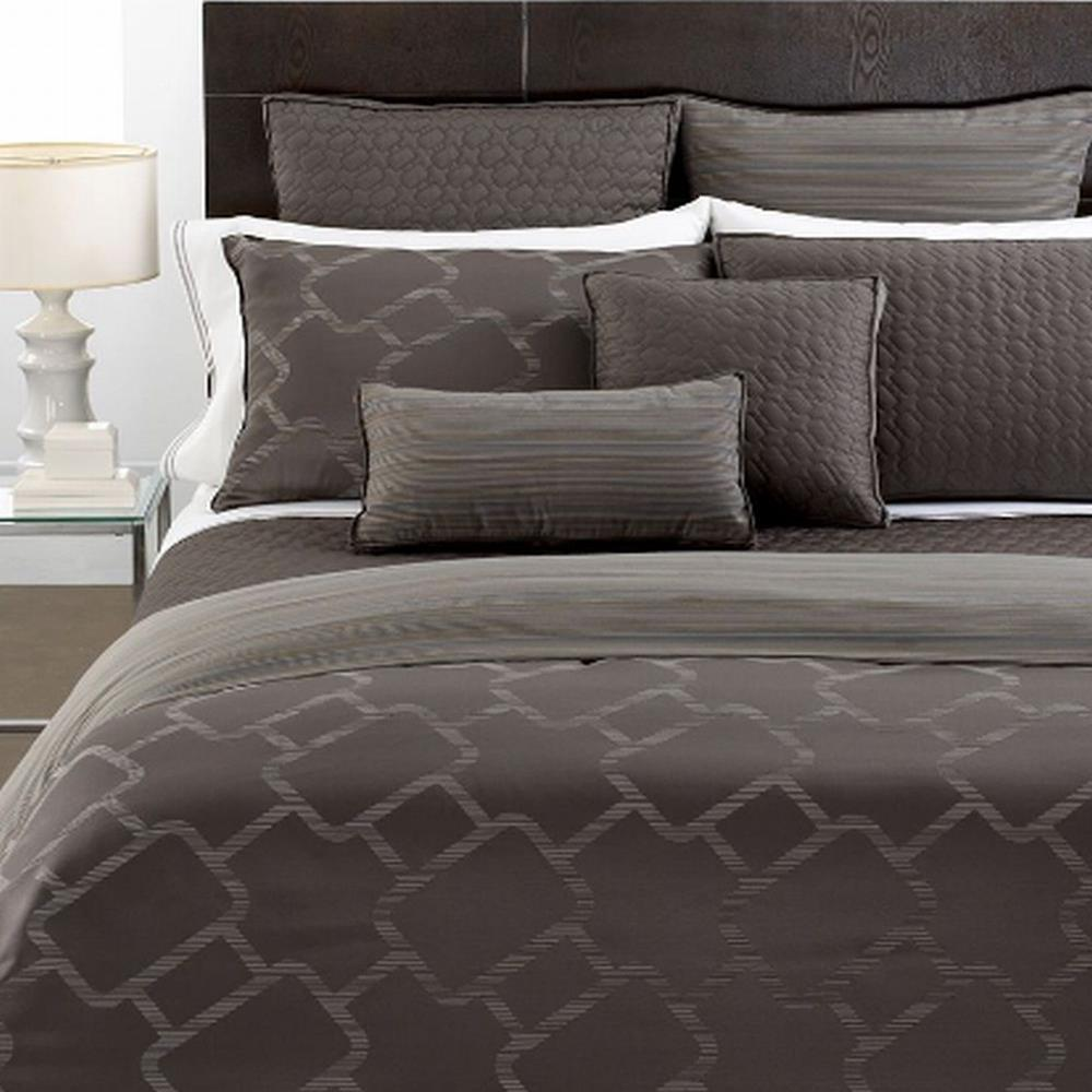 Hotel Collection Gridwork King Duvet Cover Graphite NEW  eBay