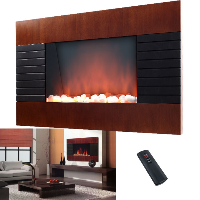 Decorative Wall Fireplace Heater with Remote 750/1500W