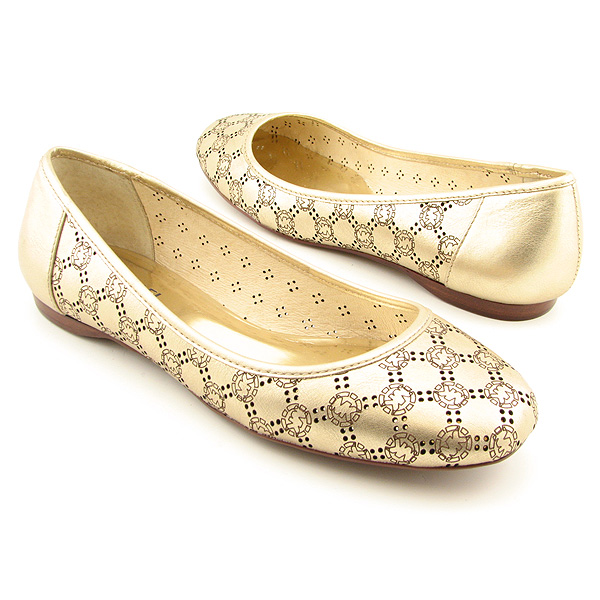 MICHAEL KORS Dayton Flat Flats Shoes Gold Womens
