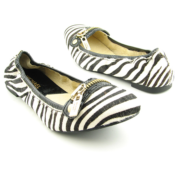MICHAEL KORS Berkley Flat Flats Shoes White Womens