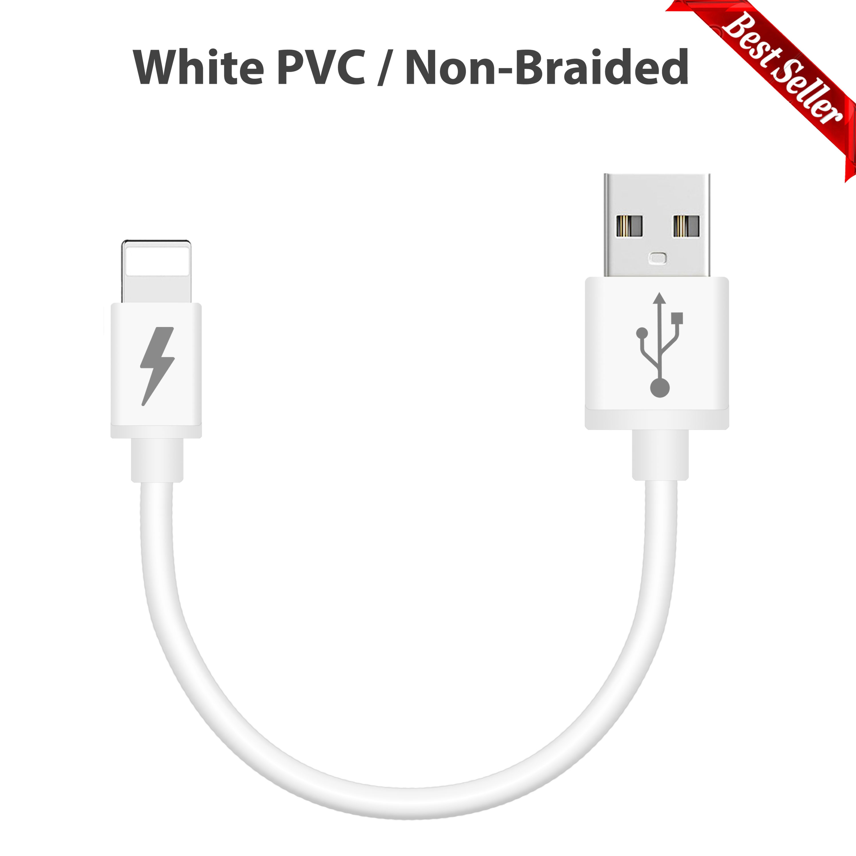 Short Braided Usb Charging Charger Data Sync Cable Lead
