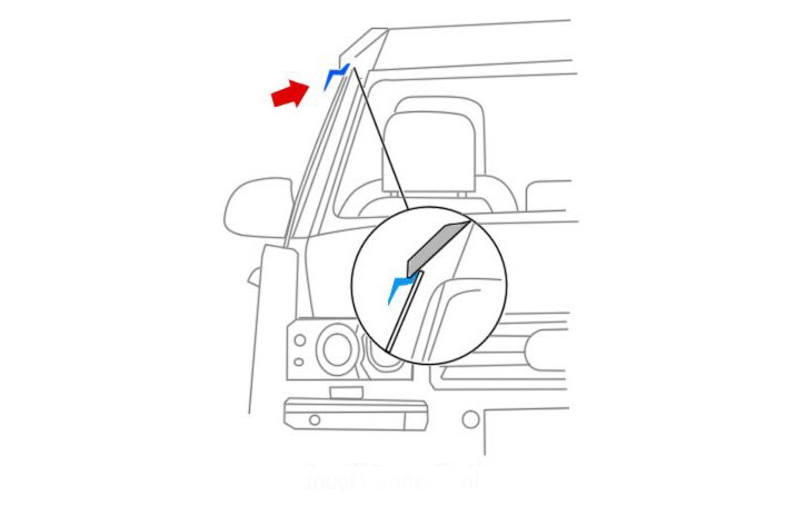 To Fit Transit 2000-2013 2 PC Front Set Internal fit Wind