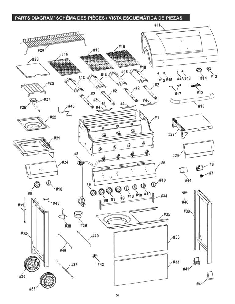 Help for Classic 4-Burner Gas Grill With Sideburners
